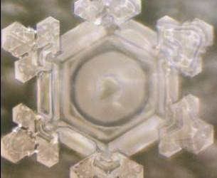 "Image of water crystal ""Thank you"""